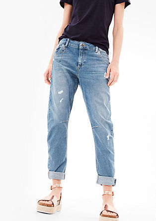 Bowleg: Jeans with appliqués from s.Oliver