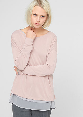 Boxy, oversized long sleeve top from s.Oliver