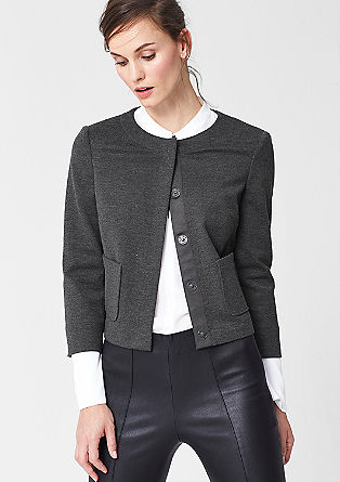 Boxy stretch viscose jacket from s.Oliver