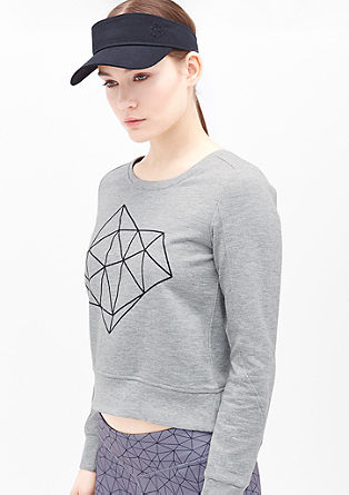 Boxy-Sweatshirt mit Fusion-Logo