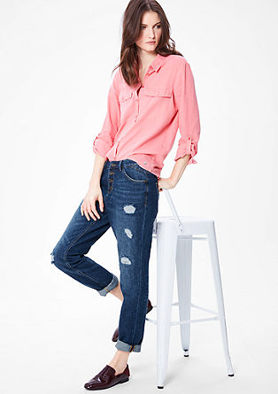 Boyfriend: jeans with distressed details from s.Oliver