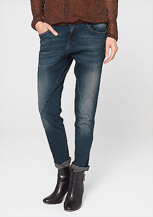 Boyfriend: jeans with red seams from s.Oliver