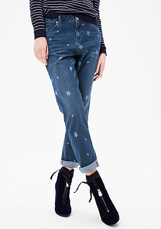 Boyfriend: Jeans with stars from s.Oliver