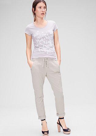 Boyfriend: Športne hlače iz lana