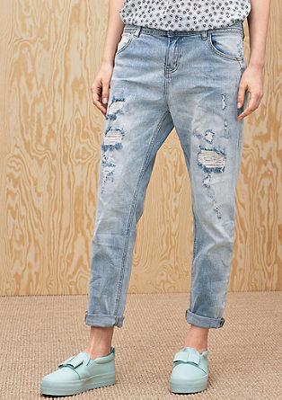 Boyfriend: Svetle jeans hlače z raztrganinami