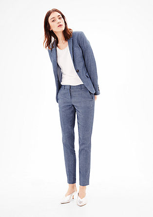 Boyfriend blazer in blended linen from s.Oliver