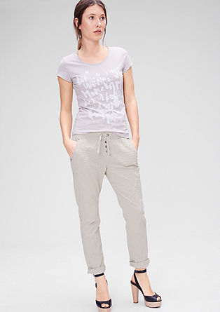 Boyfriend fit: Casual pantalon van linnen