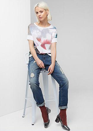 Boyfriend fit: jeans met slijtageplekken