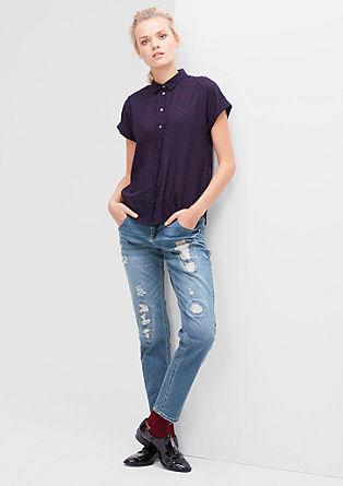 Boyfriend style: jeans met slijtageplekken