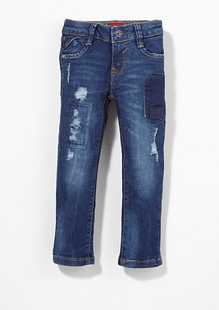 Brad: destroyed & repaired jeans