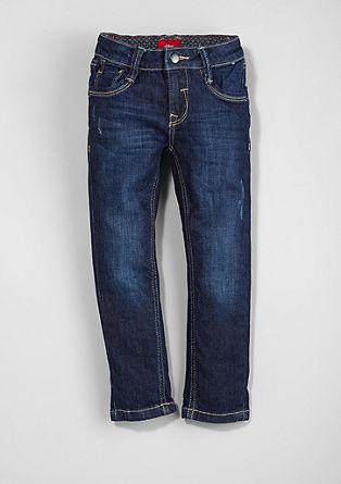 Brad: Temne raztegljive jeans hlače