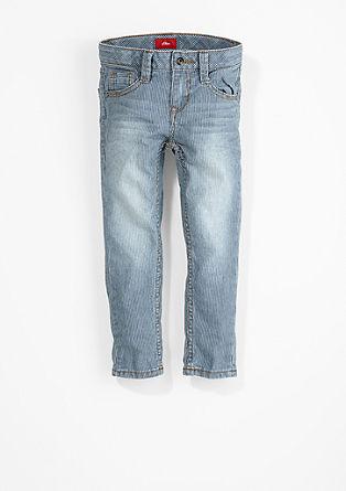 Brad Slim: Črtaste jeans hlače