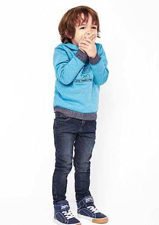 Brad Slim: jeans hlače z učinkom barvnega pranja