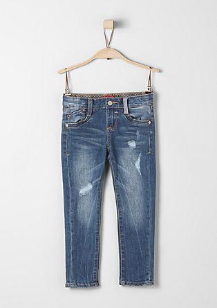 Brad Slim: jeans met slijtageplekken