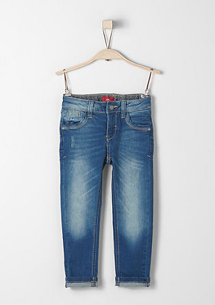 Brad Slim: Stretch-Jeans mit Patch