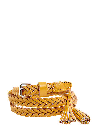 Braided leather belt from s.Oliver