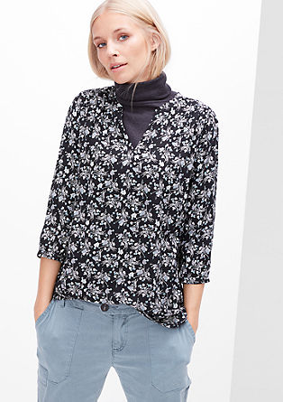 Breezy blouse with an all-over print from s.Oliver