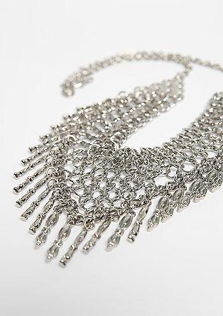 Breite Halskette mit Anhängern