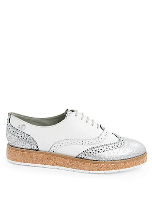 Brogue-Loafer mit Plateau
