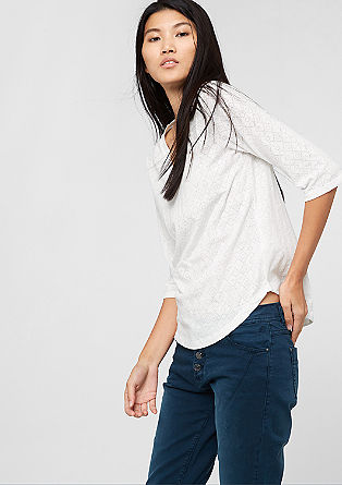 Burnt-out top with 3/4-length sleeves from s.Oliver