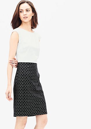 Business jurk van een materiaalmix