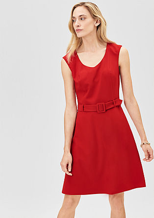 Business-Kleid aus Crêpe