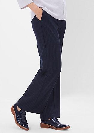 Business pantalon met naaldstrepen