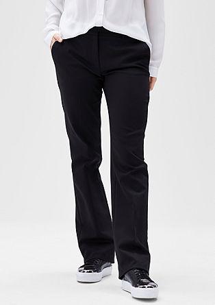Business pantalon met rechte pijpen