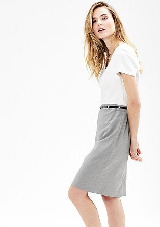 Business šaty s dvoubarevným vzhledem