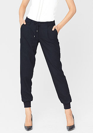 Business trousers in the style of tracksuit bottoms from s.Oliver