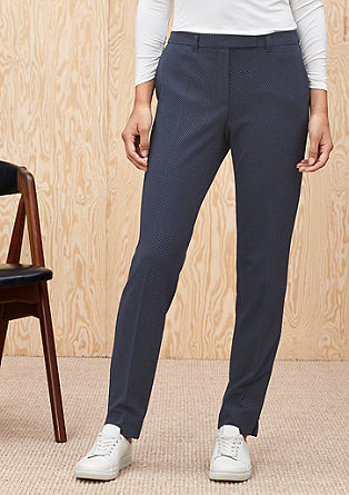 Business trousers with a textured pattern from s.Oliver