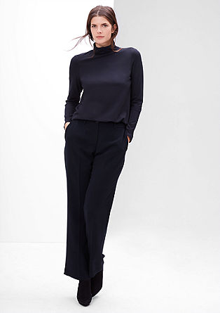 Business trousers with a wide leg from s.Oliver