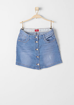 Buttoned denim skirt from s.Oliver