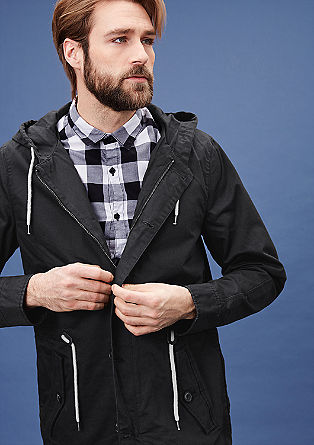 Canvas hooded parka from s.Oliver