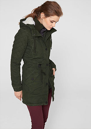 Canvas parka with a teddy bear fur hood from s.Oliver