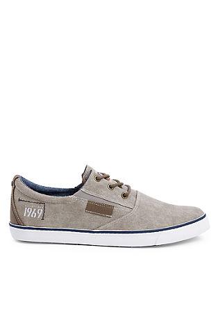 Canvas sneakers in zeilstijl