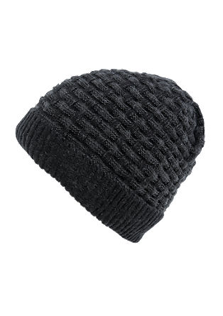 Cap in a textured knit from s.Oliver