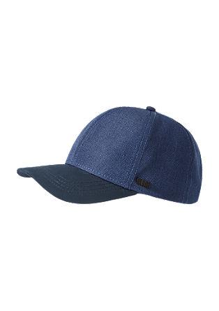 Cap mit Leder-Look-Schild