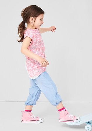 Capri-Jeans mit Bündchen