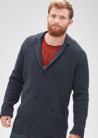 Cardigan in a blazer look from s.Oliver