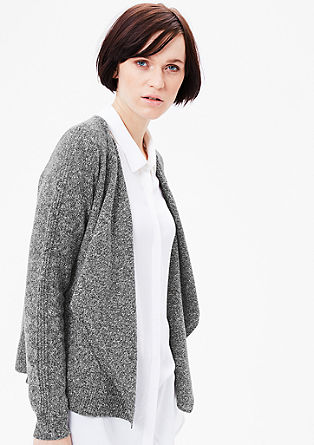 Cardigan in Salt-Pepper-Optik