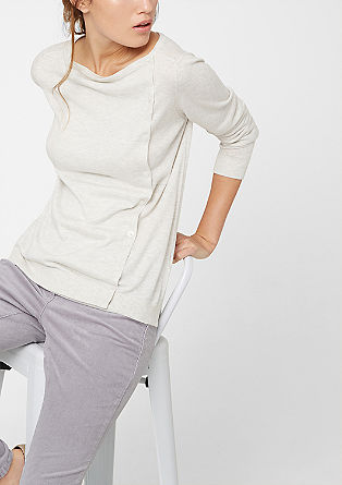 Cardigan with a diagonal button placket from s.Oliver