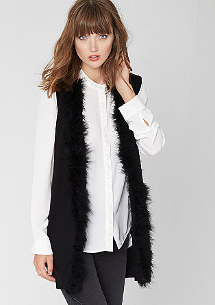 Cardigan with a feather hem from s.Oliver