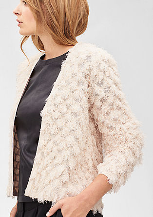 Cardigan with a fluffy knit pattern from s.Oliver