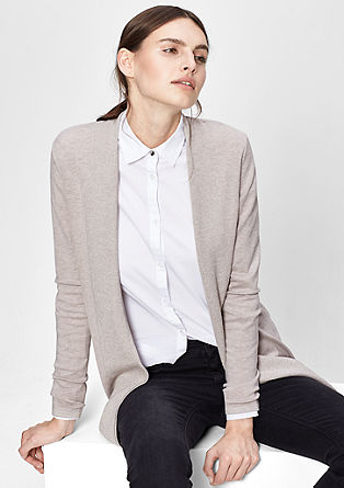 Cardigan with a glittery hem from s.Oliver