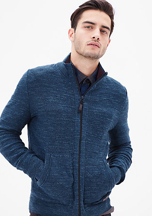 Cardigan with a mottled texture from s.Oliver