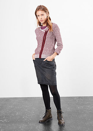 Cardigan with a slanted zip from s.Oliver