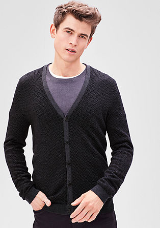 Cardigan with an argyle pattern from s.Oliver