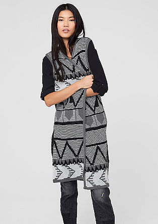 Cardigan with an Aztec pattern from s.Oliver