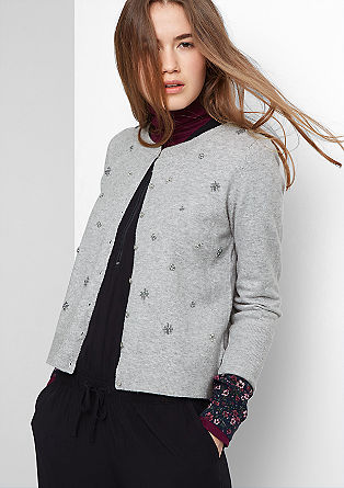 Cardigan with appliqués from s.Oliver